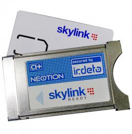 Satelitní tuner s kartou Skylink
